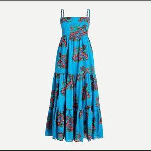 Jcrew J.crew Tiered maxi dress in lobster print